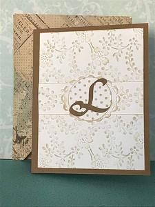 Monogrammed L card