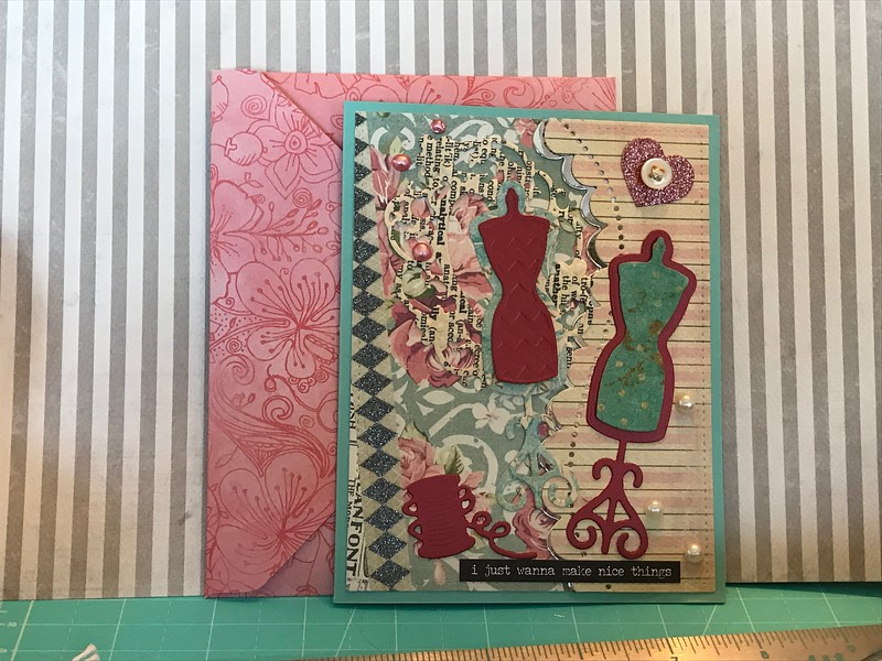 Another sewing themed card for quilt retreat gift