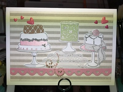 Altenew's Cake Love stamp and die set