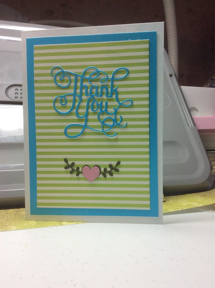 Thank you card for Kim