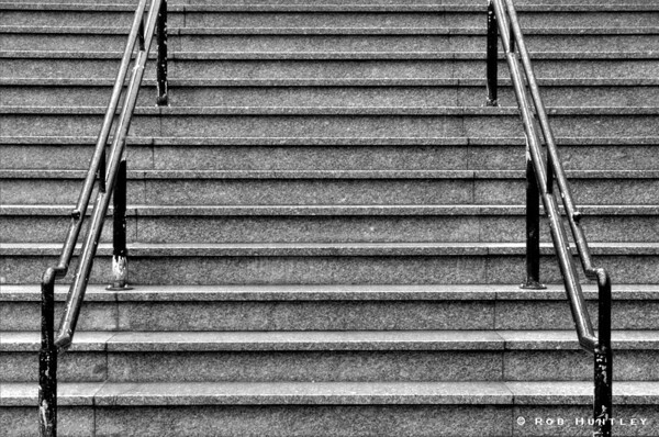 "B&W version. The stairs at L'Esplanade Laurier on Bank Street in Ottawa.  Cityscapes outing of the Camera Club of Ottawa.  <a href=""http://www.robhuntley.ca/Stock-Photography/City-Scenes/City-Scenes/4486745_mNfr5#716127255_YjDrE"">See a colour version here</a>.  © Rob Huntley"