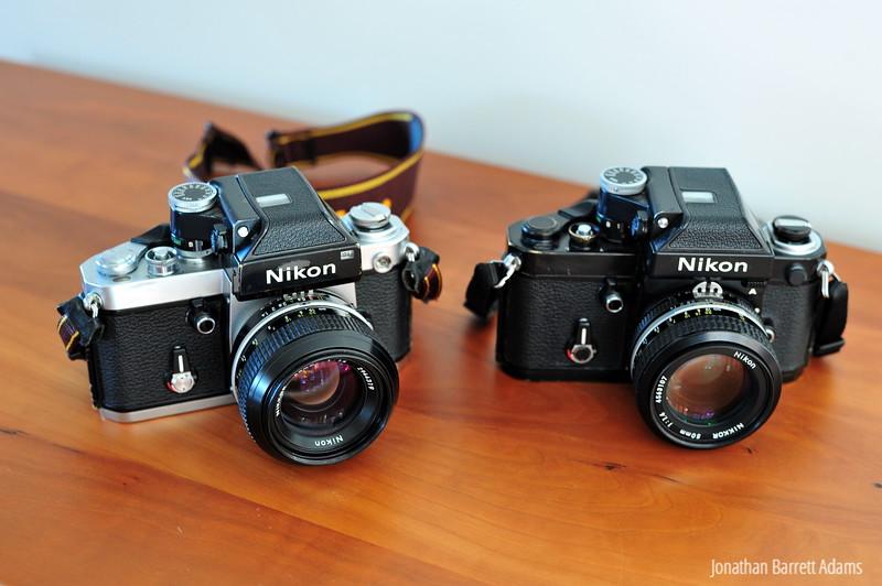 '76 Nikon F2 & '79 F2A with period 50s