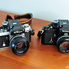 '76 Nikon F2 & '79 F2A with period 50s
