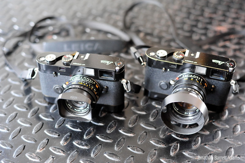 Leica MP with 35 Summicron Asph., Leica MP with 50 Summilux