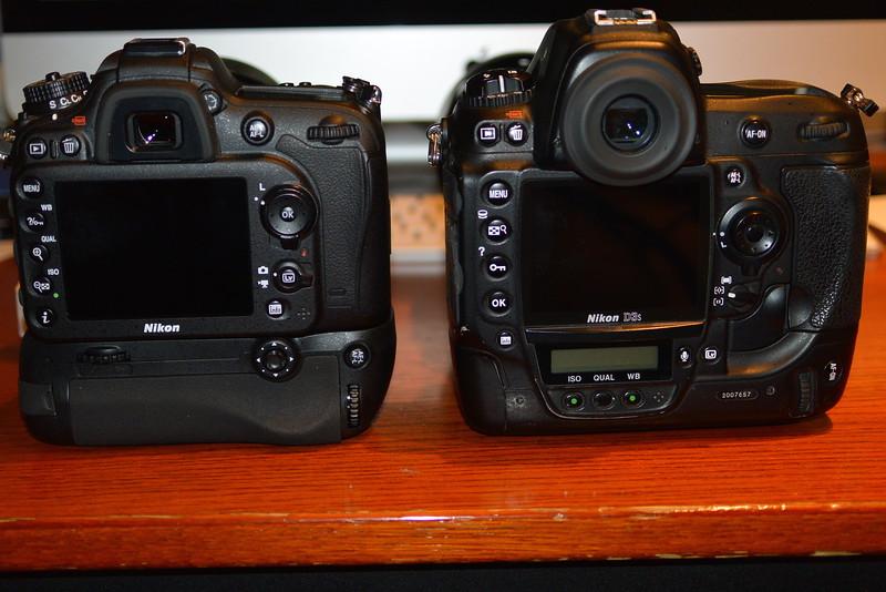 Nikon D3S and Nikon D7100 with grip