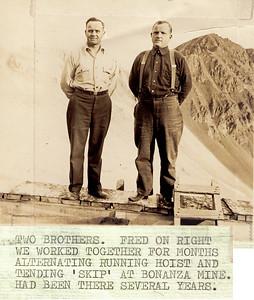 Brothers at Bonanza Mine
