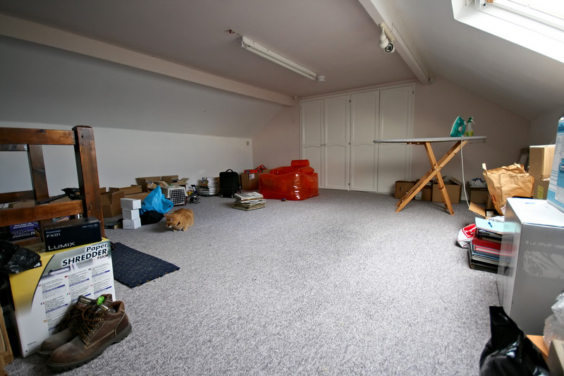 Super wide. My loft at 10mm (16mm equiv in 35mm terms). Sigma 10-20mm. f/4.5, 1/50, ISO800
