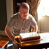Martin blows out the candles on his 40th birthday