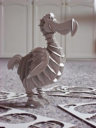 Carboard model of a dodo (XMas pressie) by Muji.