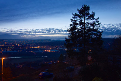 Evening view over the Aire Valley