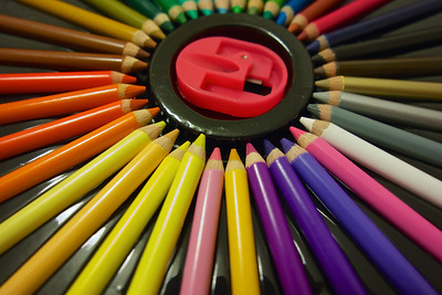 Coloured pencils at ISO1600