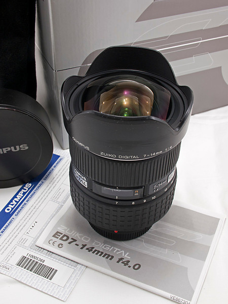 Olympus Four Thirds 7-14 mm f/4 Ultra Wide Angle Lens