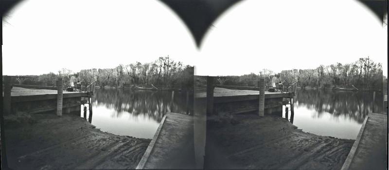 City dock no mask in holga stereo pinhole camera.