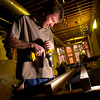 Wenger - Knife & Watches<br /> Martin Donahue, of Sand Construction works on building shelving supports  at the Wenger shop that will be opening on the 1100 block of the Pearl Street Mall in Boulder,<br /> Photo by Paul Aiken / The Camera / February 25, 2010.