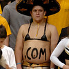 "This  CU Buff "".com fan"" feels the pain of the overtime loss to Texas.<br /> Cliff Grassmick / February 14, 2009"