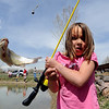 "N0425FISH320.JPG N0425FISH320.JPG Catira Coldiron of Louisville can't hold on to the slippery fish she caught  during the Children's Fishing Day in Louisville.<br /> A fishing clinic sponsored by the Colorado Division of Wildlife and Louisville Parks and recreation was held at Warembourg fishing pond on Friday. More photos and video of the event at  <a href=""http://www.dailycamera.com"">http://www.dailycamera.com</a>.<br /> Cliff Grassmick / April 24, 2009"