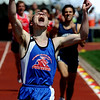 Sean Dubbs of Cripple Creek High School wins the 2A 1600m at the Colorado State Championships.<br /> Cliff Grassmick / May 16, 2009