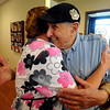 "F0726CANC27.JPG Nursing supervisor Patty Harper, left, hugs cancer patient Fausto Bertoletti during a visit to the Rocky Mountain Cancer Center.The Rocky Mountain Cancer Center has a new campaign, Love Heals, where they are emphasizing the importance of a positive  attitude.<br /> <br /> Cliff Grassmick / July 24, 2009<br /> For more photos, go to the photo galleries at  <a href=""http://www.dailycamera.com"">http://www.dailycamera.com</a>."