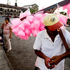 Nica_.jpg Reparto Vijil, of Leon, Nicaragua, sells cotton candy in the main square Monday, March 23 2009. The HOLA Foundation is a seven-year non-profit organization out of CU working in and around Chacraseca to provide sustainable health and clean water throughout the western regions of Nicaragua. <br /> <br /> KASIA BROUSSALIAN / THE CAMERA