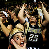 "State_Basketball_Girls_final_four_.jpg Monarch senior Alex Puldy (front) cheers on his team during the game against Highland Ranch at the ""Final Four"" State Basketball Championships at the Coors Event Center in Boulder, Colo. Wednesday, March 11, 2009.<br /> <br /> KASIA BROUSSALIAN / THE CAMERA"
