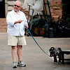 "0619DOGS2.JPG Actor Dennis Elkins (cq) reacts as Tenzia, a Lhasa Apso, relieves himself on stage during auditions for two dogs to appear in the Colorado Shakespeare Festival's presentation of ""The Two Gentlemen of Veron"" in the Mary Rippon Outdoor Theater at the University of Colorado in Boulder, Colorado June 18, 2009. Four dogs will make the cut for the play, two main dogs and two under studies. CAMERA/Mark Leffingwell"