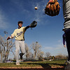 N0311ELISEO03.JPG N0311ELISEO<br /> Eliseo Rodriguez, who was hit by a car just over a year ago, goofs around before practice with his teammates on the Boulder High School baseball team. VIDEO: Listen to Rodriguez talk about baseball and his life after the accident.<br /> cq all<br /> Photo by Marty Caivano/March 10, 2009
