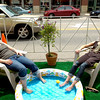 "PARKING.jpg Chloe Klein, at left and Emmy Swenson, both hairstylists with Urban Pearl, wait for their shifts to start in their backyard themed parking spot on Pearl Street Friday afternoon. The blocked off parking spot was part of Park(ing) Spaces day where all over town businesses adopt a parking space and convert it into a ""park"" for one day.VIDEO: Watch Park(ing) Spaces day at  <a href=""http://www.dailycamera.com"">http://www.dailycamera.com</a> <br /> Photo by Paul Aiken / The Camera"