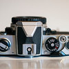 Nikon FM (chrome), top