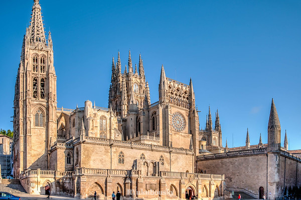 Burgos Cathedral -  South side, from the Plaza de San Fernando