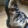 My hiking boots are just about done.....and they look it!