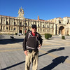 Arrival in Leon - In front of the Parador of Leon, a former Monastery and Cathedral