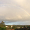 A rainbow as we began our last day on the Camino.....