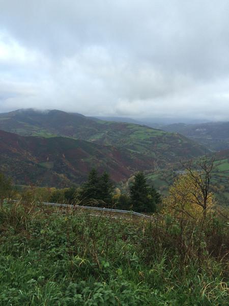 Climbing through the clouds in Galicia