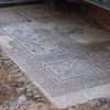 Excavation of ancient Roman homes (mosaic tile floor - still intact!) in Astorga.