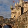 Castle built by Knights Templar in Pontferrada, Spain