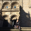 Now I can sit down....arrival at Santiago Cathedral