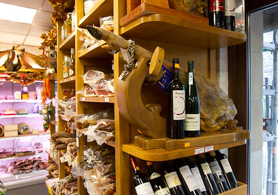 A small shop in Valcarlos, Spain proves a good place to pick up lunch supplies on the Camino de Santiago between St-Jean-Pied-de-Port, France and Roncesvalles, Spain.