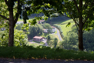 The Camino de Santiago passing through Varcarlos, Spain affords elevated views of the valley below.