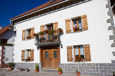 A traditional house along the Camino de Santiago in the village of Espinal/Aurizberri.