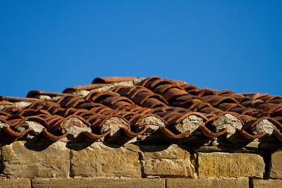 Roof tiles in Esquirotz, Spain along the Camino de Santiago.