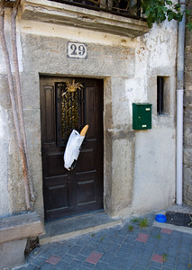 Baguette deliver in Larrasoaña, Spain on the Camino de Santiago.