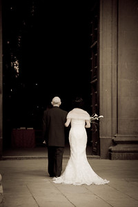 A Spanish couple celebrate their wedding at Santa Maria la Real Cathedral in Pamplona, on the Camino de Santiago.