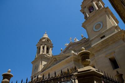 The Cathedral Santa Maria de Real in Pamplona, Spain on the Camino de Santiago.