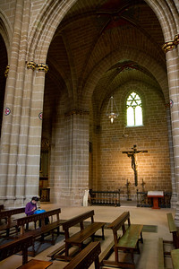 Vaulted ceilings in the impressive cathedral of Pamplona, on the Camino de Santiago.