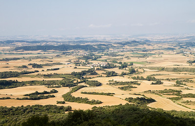 The view from Alto de Perdon down to Uterga.