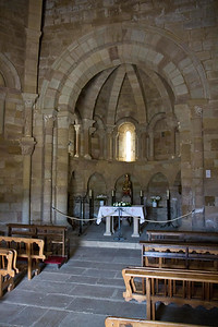 The simple apse of the Church of Saint Mary of Eunate, a worthwhile detail on the Camino de Santiago.