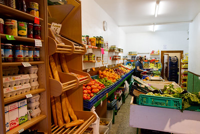 A typical small-town grocery store provides food for hungry pilgrims on the Camino de Santiago in Spain.