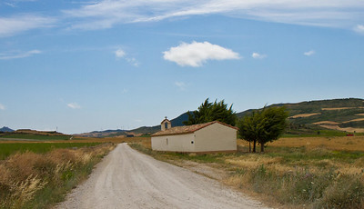 A small chapel on the route to Eunate on the Camino de Santiago.
