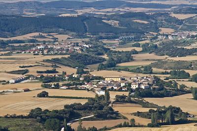 The view from Alto de Perdon down to Uterga.