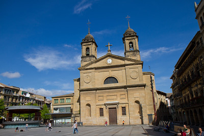 Iglesia San Juan Bautista (Church of Saint John the Baptist) in Estella, Spain.